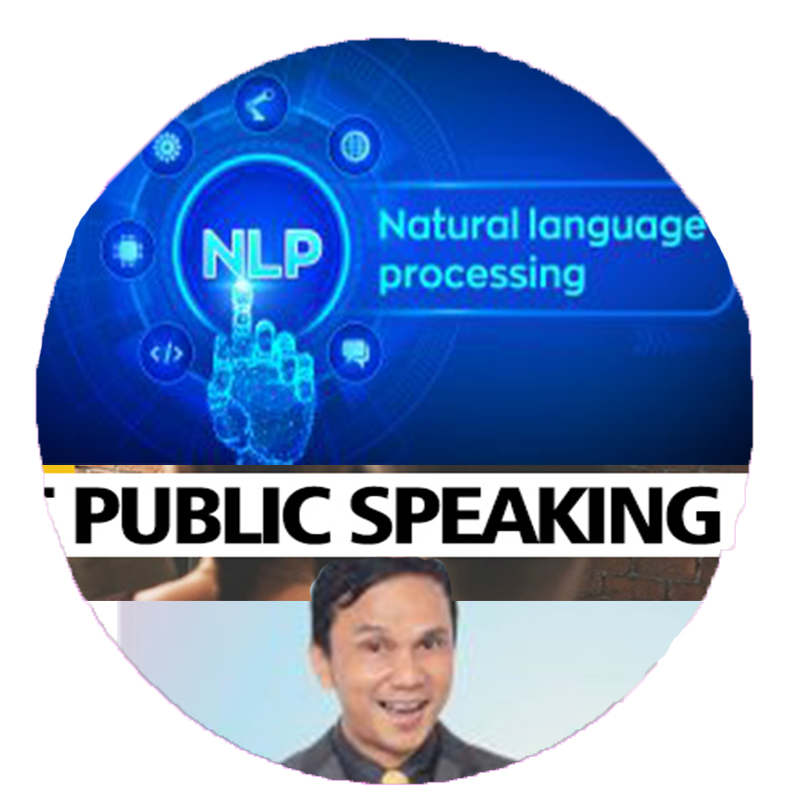 laptop pake NLP Public Speaking Bulat lingkaran luar